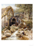 An Old Water Mill Giclee Print by Myles Birket Foster