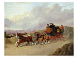 The Edinburgh to London Royal Mail Coach Prints by John Frederick Herring I