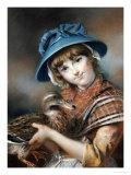 A Market Girl Holding a Mallard Duck, 1787 Prints by John Russell