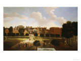 A View of Old Horse Guards Parade from St. James' Park, with Tiltyard Stairs Poster von Thomas Van Wyck