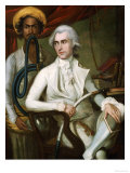 Portrait of a Gentleman, Seated, in White Jacket, Waistcoat and Breeches, Holding a Hookah Giclee Print by Robert Home