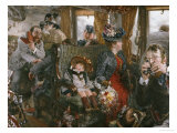 On the Train, Observed from Life, 1892 Giclee Print by Adolf Von Menzel