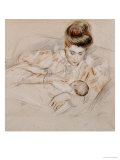 Mother and Child Prints by Paul-cesar Helleu