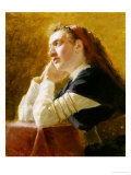 Portrait of a Young Woman Giclee Print by Ilya Efimovich Repin