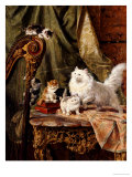 A Musical Interlude, 1897 Prints by Henriette Ronner-Knip