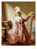 The Music Lesson, 1788 Giclee Print by Michael Garnier