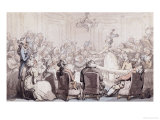 The Concert, Bath Chambers Art by Thomas Rowlandson