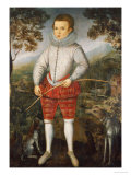 Portrait of a Boy, Dated 1596 Print by Robert Peake