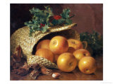 Still Life with Apples, Hazelnuts and Holly, 1898 Giclee Print by Eloise Harriet Stannard