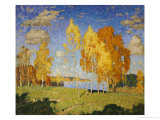 Landscape with Birch Trees Giclee Print by Konstantin Ivanovich Gorbatov