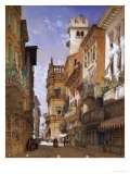 Verona: Corso Sant Anastasia and the Palazzo Maffei, 1855 Art by William Callow