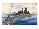 Descending Geese at Haneda Premium Giclee Print by Ando Hiroshige
