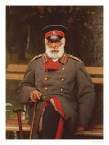 Portrait of a Russian General Seated on a Bench, 1882 Prints by Ivan Nikolaevich Kramskoi