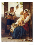 Maternal Love Giclee Print by August Weckesser