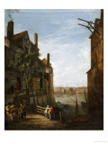 A View of the Thames at Southwark Looking Towards the City Prints by William Marlow