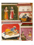 Illustration to Rasikapriya of Keshau Das, Mewar, Early 17th Century Posters