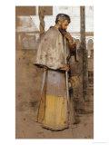 A Neapolitan Monk Art by John Frederick Lewis