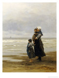 Waiting for the Boats, 1881 Giclee Print by Philippe Lodowyck Jacob Frederik Sadee