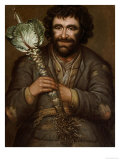 A Gardener Holding a Cabbage with a Candle, 1731 Giclee Print by Richard Waitt
