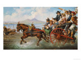 The Crowded Chariot Print by Consalve Carelli