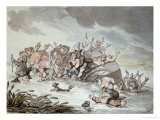The Mishap, 1806 Poster by Thomas Rowlandson
