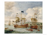 Queen Anne's Visit to Greenwich Giclee Print by Jan Griffier The Elder