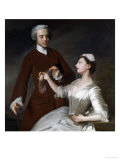 Portrait of Sir Edward and Lady Turner, 1740 Prints by Allan Ramsay