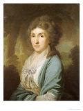 Portrait of Ekaterina Aleksandrovna Novosil'tseva Giclee Print by Vladmir Lukich Borovikovskii