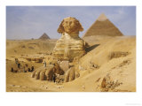 Excavation of the Sphinx, 1887 Giclee Print by Ernst Karl Eugen Koerner