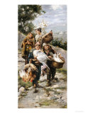 Going to Market (Late 19th Century) Giclee Print by L. Pernett