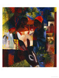 A Market in Tunis, 1914 Giclee Print by Auguste Macke