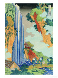 Ono Waterfall, the Kiso Highway Giclee Print by Katsushika Hokusai