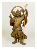 A Fine Large Wood Statue of Bishamon, Guardian of the North, 18th Century Giclee Print