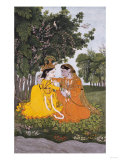 Lovers in a Forest, circa 1800 Giclee Print