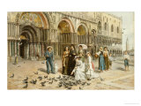 The Pigeons of St. Mark's, Venice, 1876 Art by George Goodwin Kilburne