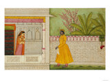 The Sinned Against, Illustration to the Rasikapriya of Keshav Das circa 1750-1760 Prints