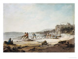 A Drawnet at Tenby, 1795 Giclee Print by Julius Caesar Ibbetson