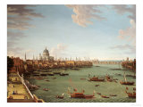 The Thames from the Terrace of Somerset House, Looking Towards the City, circa 1745 Prints by Antonio Joli