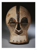 A Superb Songye Mask, Kifwebe,Whitened with Kaolin, Belgian Congo Giclee Print