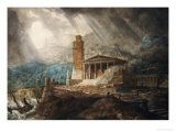 A Cappriccio of a Roman Port During a Storm Giclee Print by Joseph Michael Gandy