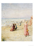 La Plage, Ostende Premium Giclee Print by Alfred Emile Léopold Stevens