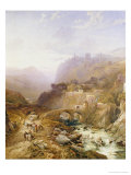 Figures on the Road Below Fort Leon, Sicily, 1879 Giclee Print by Jr., Thomas Miles Richardson