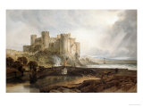 Conway Castle, circa 1802 Reproduction procédé giclée par William Turner