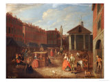 View of Covent Garden Market from the East with the Church of St. Paul&#39;s Giclee Print by Joseph Van Aken