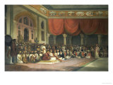 Sir Charles Warre Malet, in 1790 Concluding a Treaty in Durbar with Souae Madarow Giclee Print by Thomas Daniell