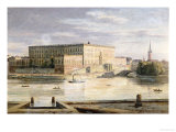 The Royal Palace, Stockholm, 1848 Premium Giclee Print by Martius Rorbye
