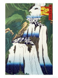 The Mist Spraying Waterfall at Nikko Giclee Print by Hiroshige II