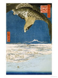 One Hundred Thousand- Tsubo Plain at Susaki, Fukagawa Art by Ando Hiroshige