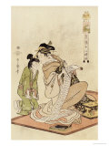 "The Hour of the Dog from the Series ""The Twelve Hours of the Green Houses"" Print by Kitagawa Utamaro"