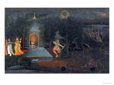 Illustration to the Ramayana, circa 1750-1760 Premium Giclee Print by Mir Kalan Oudh